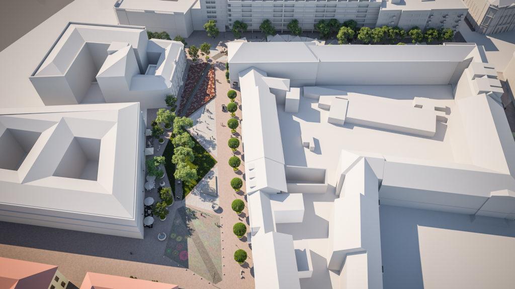 Redevelopment Main Square Debrecen Hungary 1 1024x576 - The New Pedestrian Area at Dósa Nádor Square Will be Green