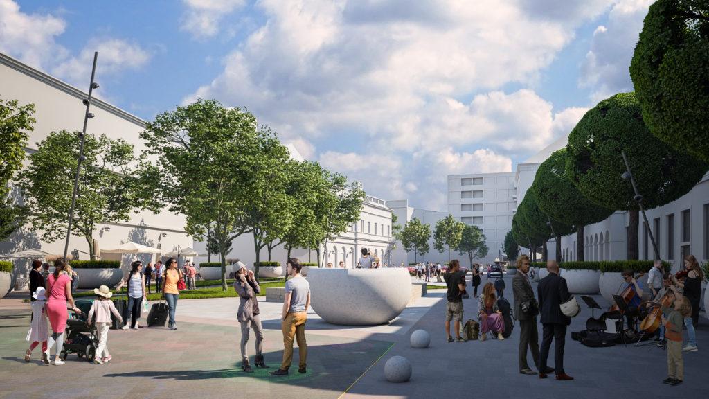 Redevelopment Main Square Debrecen Hungary 2 1024x576 - The New Pedestrian Area at Dósa Nádor Square Will be Green