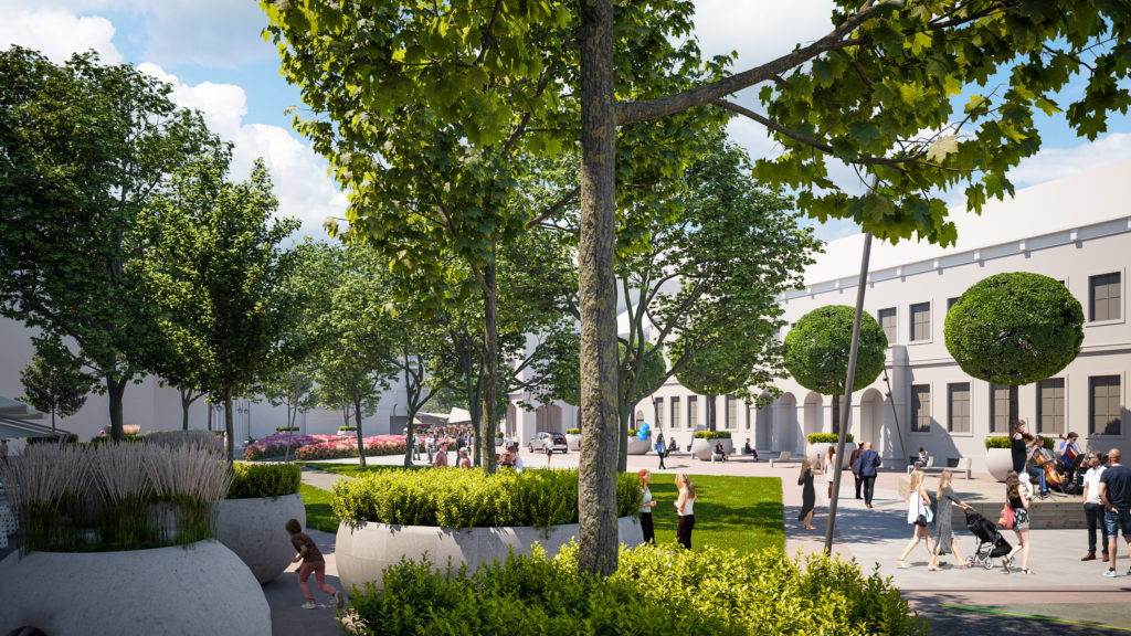 Redevelopment Main Square Debrecen Hungary 4 1024x576 - The New Pedestrian Area at Dósa Nádor Square Will be Green