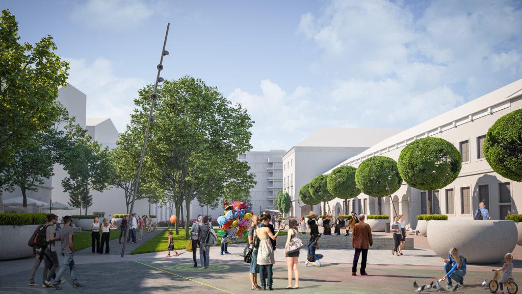 Redevelopment Main Square Debrecen Hungary 5 1024x576 - The New Pedestrian Area at Dósa Nádor Square Will be Green