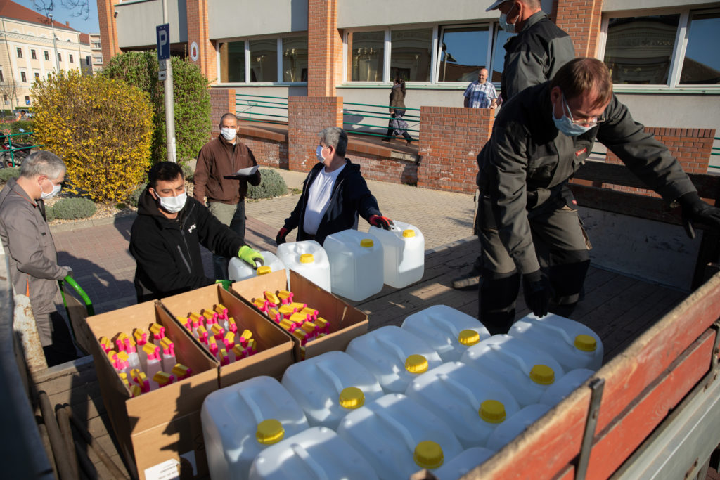 Disinfectants Coronavirus Debrecen Hungary 4 1024x683 - Disinfectants have arrived in Debrecen