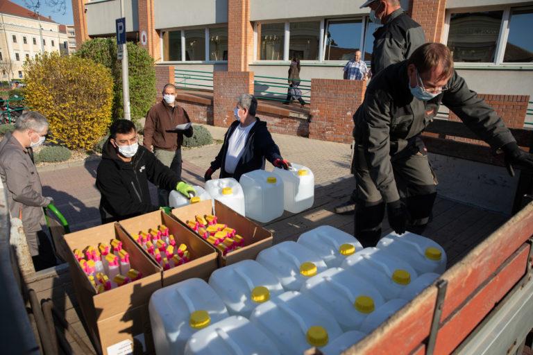 Disinfectants have arrived in Debrecen