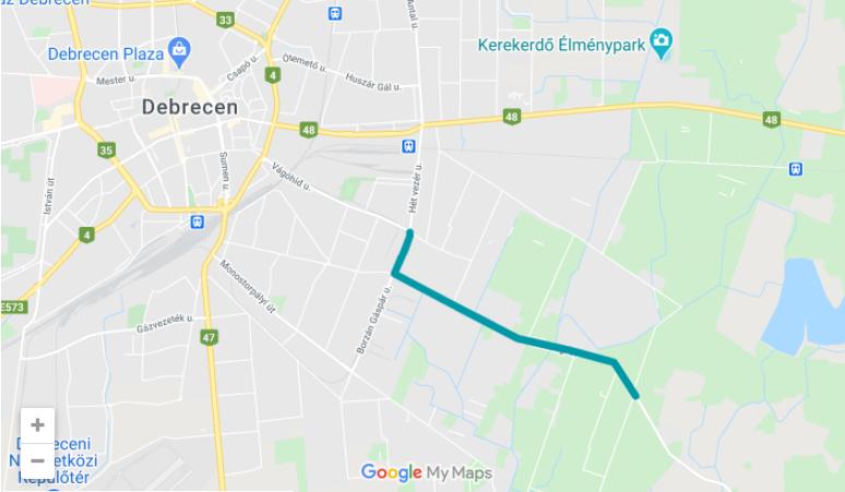 Cycling Bike Debrecen Hungary Development 02 - New Bike Paths Will be Built in the Eastern Part of Debrecen